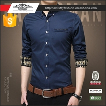 2017 newest long sleeve cotton casual mens dress shirt