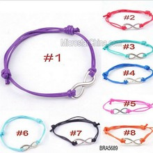 IN STOCK BRA5689 Slider Strand Surfer Beach Swimming Waxed Sliding Knot Rope Cord bay shower custom cotton string bracelet