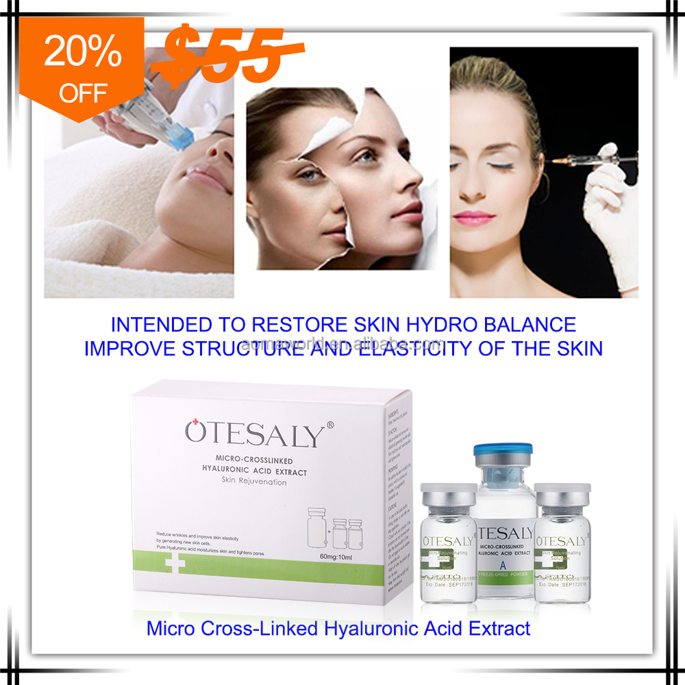 2016 OTESALY anti aging Mirco-cross linked hyaluronic acid serum for Mesotherapy solution