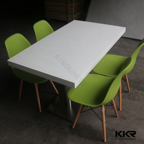 fast food table and chairs / high end restaurant furniture / solid surface restaurant tables