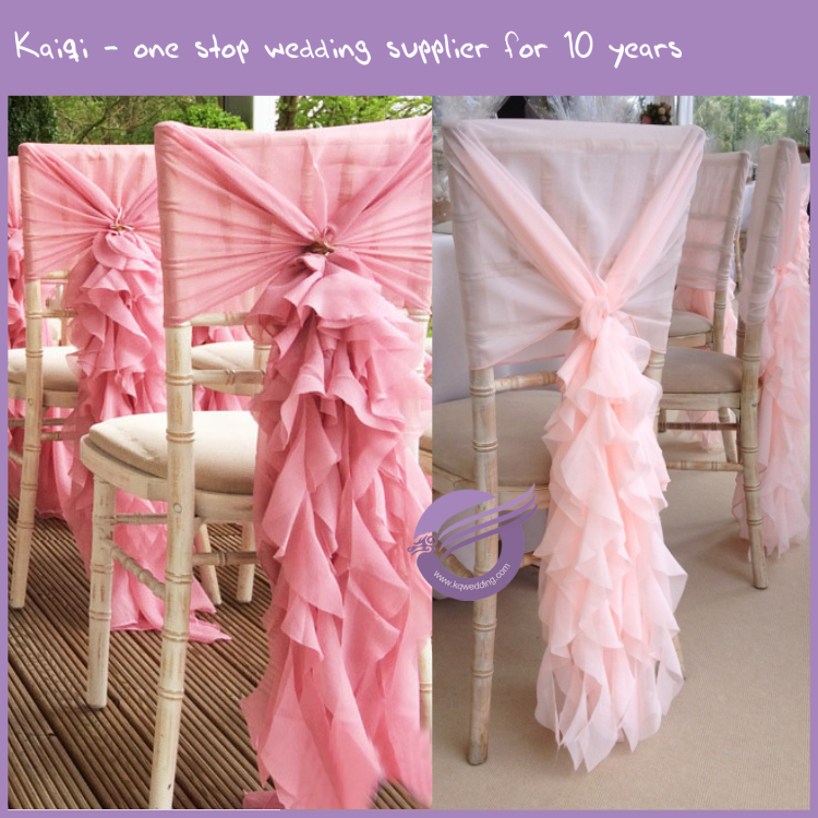 FQ00058 Hot sale wedding chair covers decoration taffeta flower sash