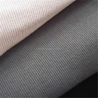 King fabric textile wholesale cotton polyester 2x2 rib knit fabric
