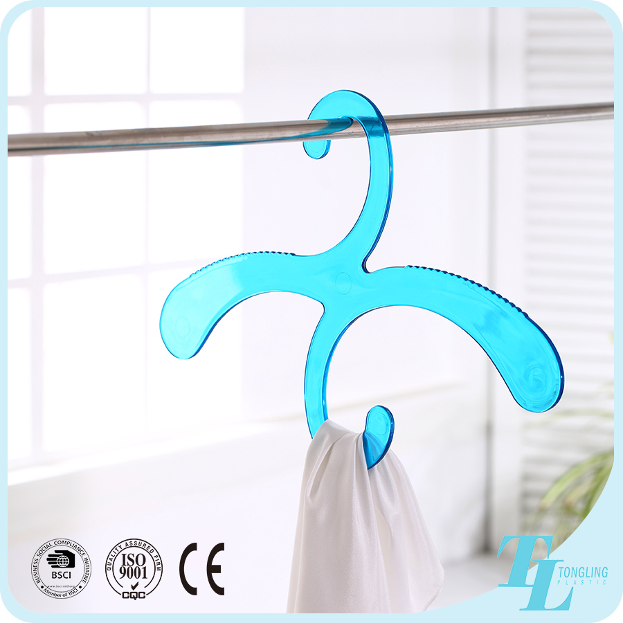 Unique space saving acrylic shawl scarf lingerie clothing plastic hanger