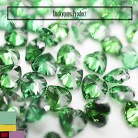 Synthetic Baguette shaped Olive green Cubic zirconia stone in loose gemsotnes