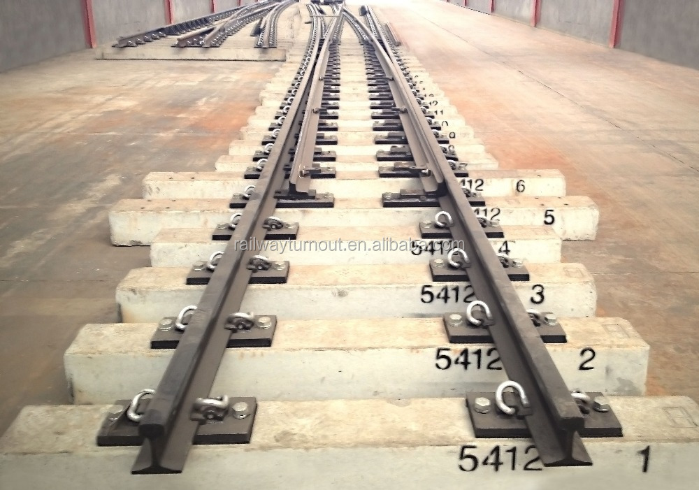 UIC 54 railways supplier made in China rail turnout