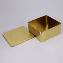 manufacturer supply square new gold tea packing tin box
