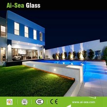 Whole-sale Price Clear Or Colored By Customer Design Safety Laminated Glass Swimming Pools Fence