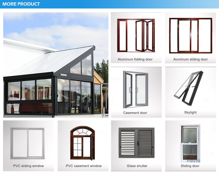 Aluminium frame single hung window with competitive price from window factory