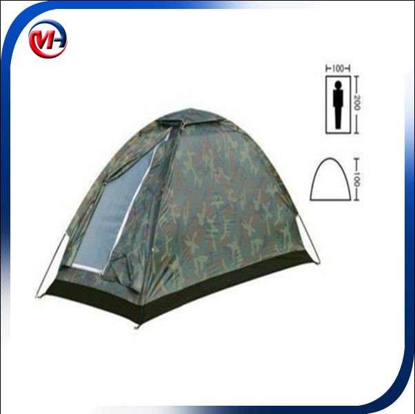 HOT SALE! Top Quality Foldable Single Person Tent for Outdoor Camping/ Camouflage Camping Hiking Tent