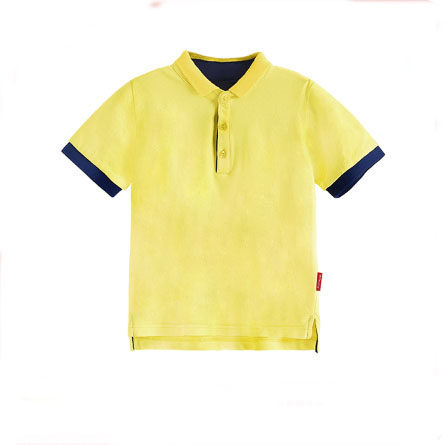 Latest bulk polo t-shirt kids clothes summer children dress import from china two tone seamless wholesale shirt
