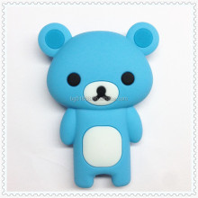 Christmas gift very good and cheap kinds small bear shape silicone mobile phone case