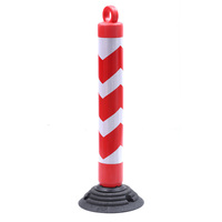 Customized Size and Height Good Quality Traffic Safety Pole With Rings Flexible Warning Column