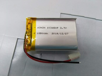 103450 3.7V 1850mAh li-polymer rechargeable battery