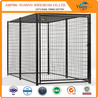5'X10' metal steel tube dog kennel with fight guard divider and 4 dog runs