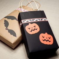 Kraft Paper Gift Bag Printing High Quality Halloween Props Packing Bag