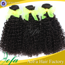Factory direct price afro kinky curly brazilian human hair