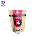 Side Gusset Heat Seal Coffee Packaging Bags,Stand Up Aluminum Foil Coffee Pouch,Flat Bottom Zipper Plastic Coffee Packaging Bags