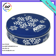 Christmas round metal cookie tin can/candy tin box/round metal candy tins
