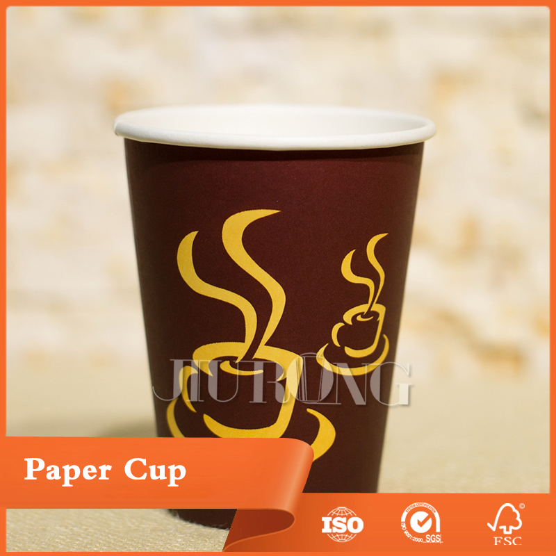 Factory price disposable single wall coffee papercup