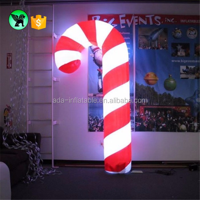 Inflatable christmas decorations giant lighting circus cone for chrismas festival ST99