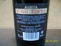 WINE VINO TINTO 12 IN A CARTON 6,000