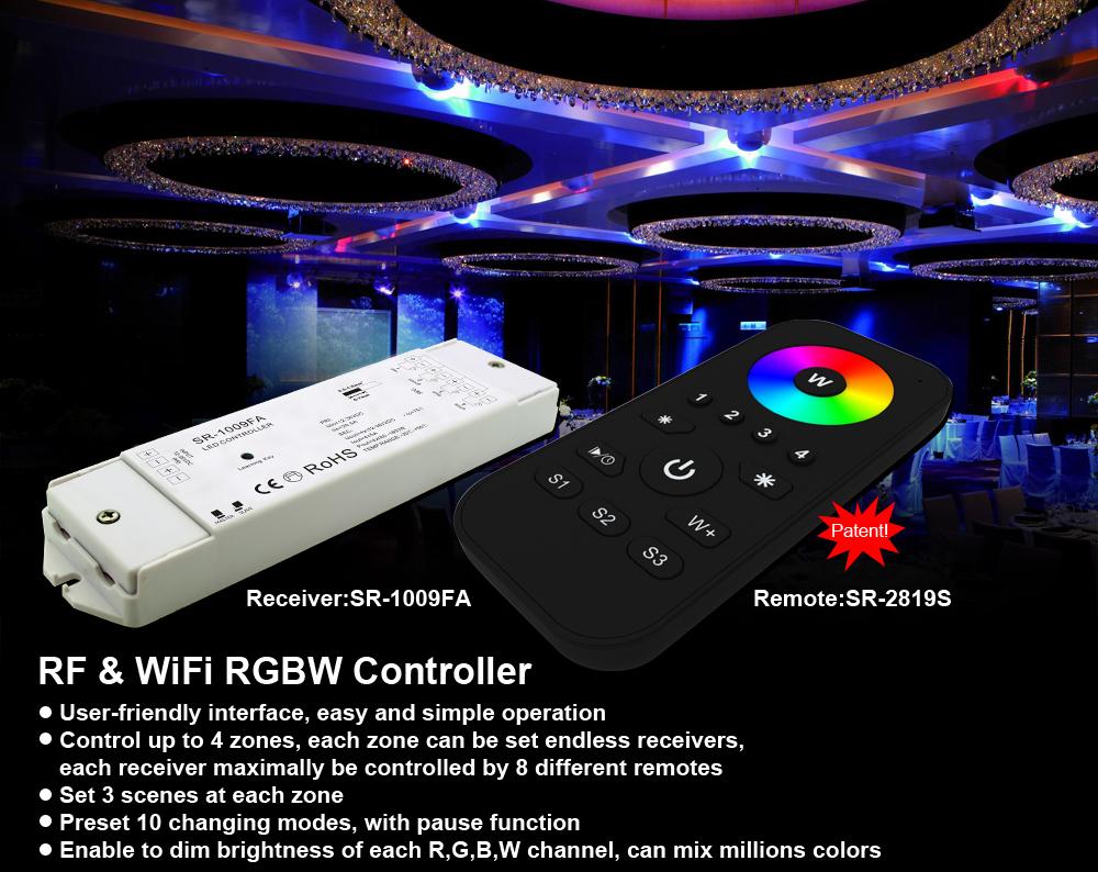 Rf Rgb Remote Sr 2819s And Receiver Sr 1009fa View Rgb