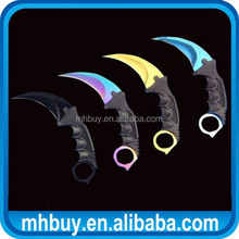 Cs Go Csgo Karambit Tactical Combat Claw Blade Neck Fade Knife & Black Sheath
