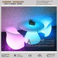 led plastic chair deco furniture