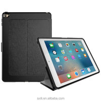 Alibaba Express Hot New Product Folding Stand Leather High protective Simple design New Sleeping smart case for ipad 2017