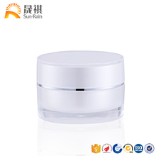 2018 pmma material empty cream jar for cosmetic packing container cream jars