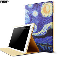 Standing new upgated pu leather color printed tablet cover for Apple iPad Air1/2