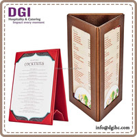 restaurant table advertising three sides table stand menu / bar table stand