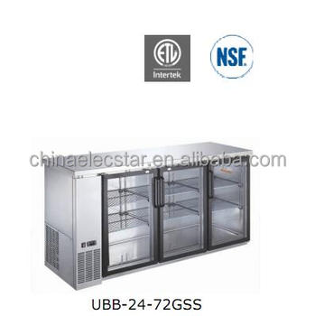 "Stainless steel underbar refrigeration/ 24"" depth glass or solid swing door back bar cooler"
