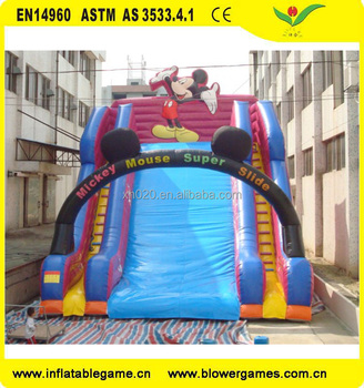 Kids Event theme inflatable Mickey mouse slide