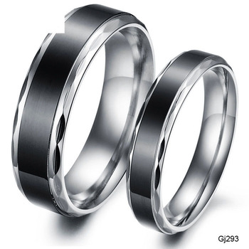 6mm/8mm Comfort Fit Titanium Plain Dome High Polished Wedding Band Ring Black Stainless Steel Personalized Plain Band Ring