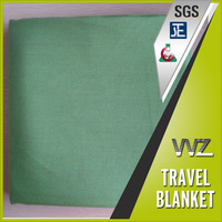 Modacrylic woven soild color travel blanket with soft hand feel eco friendly