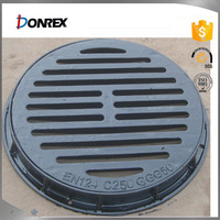 EN124 standard cast iron manhole cover with competitive price