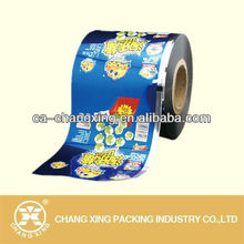 Custom printed plate aluminum laminated food packaging plastic roll film for snack