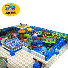 Various theme soft wooden naughty castle in playground with OMA approved