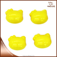 Hello Kitty Plastic beads for kids DIY string of beads yellow 14x11mm 16pcs