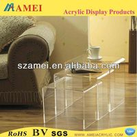 custom acrylic lucite vanity table/POP acrylic lucite vanity table