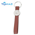 New design leather key chain holder with flower