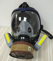 Multifunction chemical full face gas mask with cartridge &filter