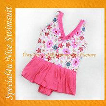 2016 child swimsuit models pink one piece child pattern swimwear for sale baby swimsuit SHLY-854