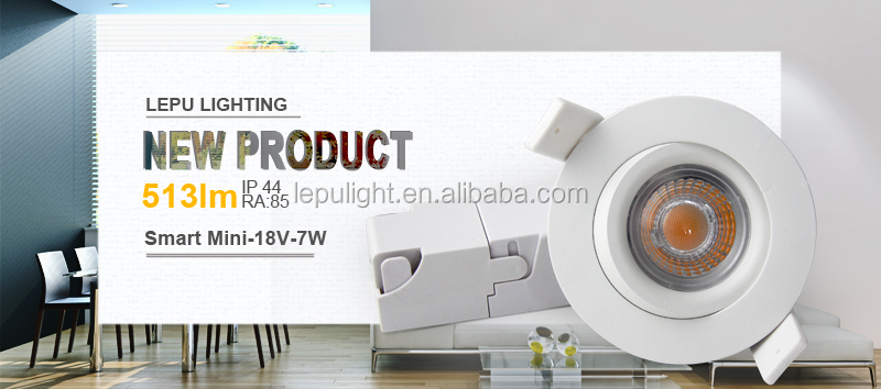 GYRO Dim to warm 2000-2800k dimmable led downlight 7W ELKO