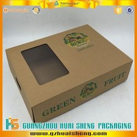 Custom Made strong corrugated Cardboard Box for fruit packaging