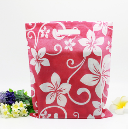 10pcs/lot 25X33cm Purple Recycled Non Woven Reusable Shopping Bags Gift Bag