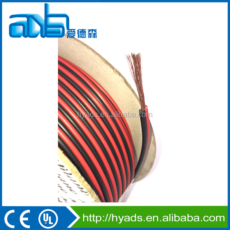 Black-red speaker cables 2*0.75mm2 copper clad Aluminum conductor