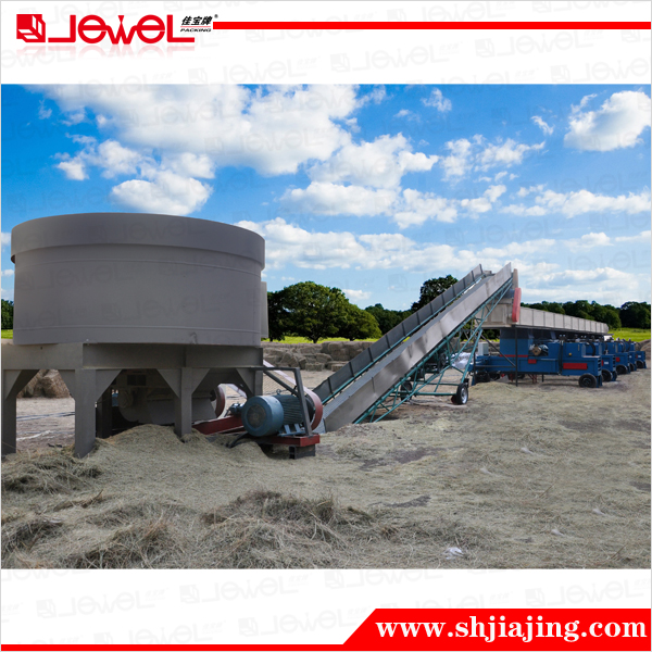 CE certified semi-automatic horizontal hydraulic hay straw baling baler compress machine