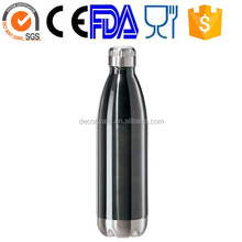 Double Wall Insulated Stainless Steel Vacuum Water/ Drinks/ Sports Bottle - 100% BPA-Free - Stainless Steel